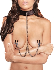 VELCRO COLLAR WITH NIPPLE CLAMPS