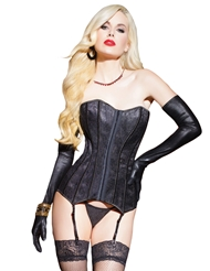 Alternate front view of TIMELESS LACE OVERLAY CORSET