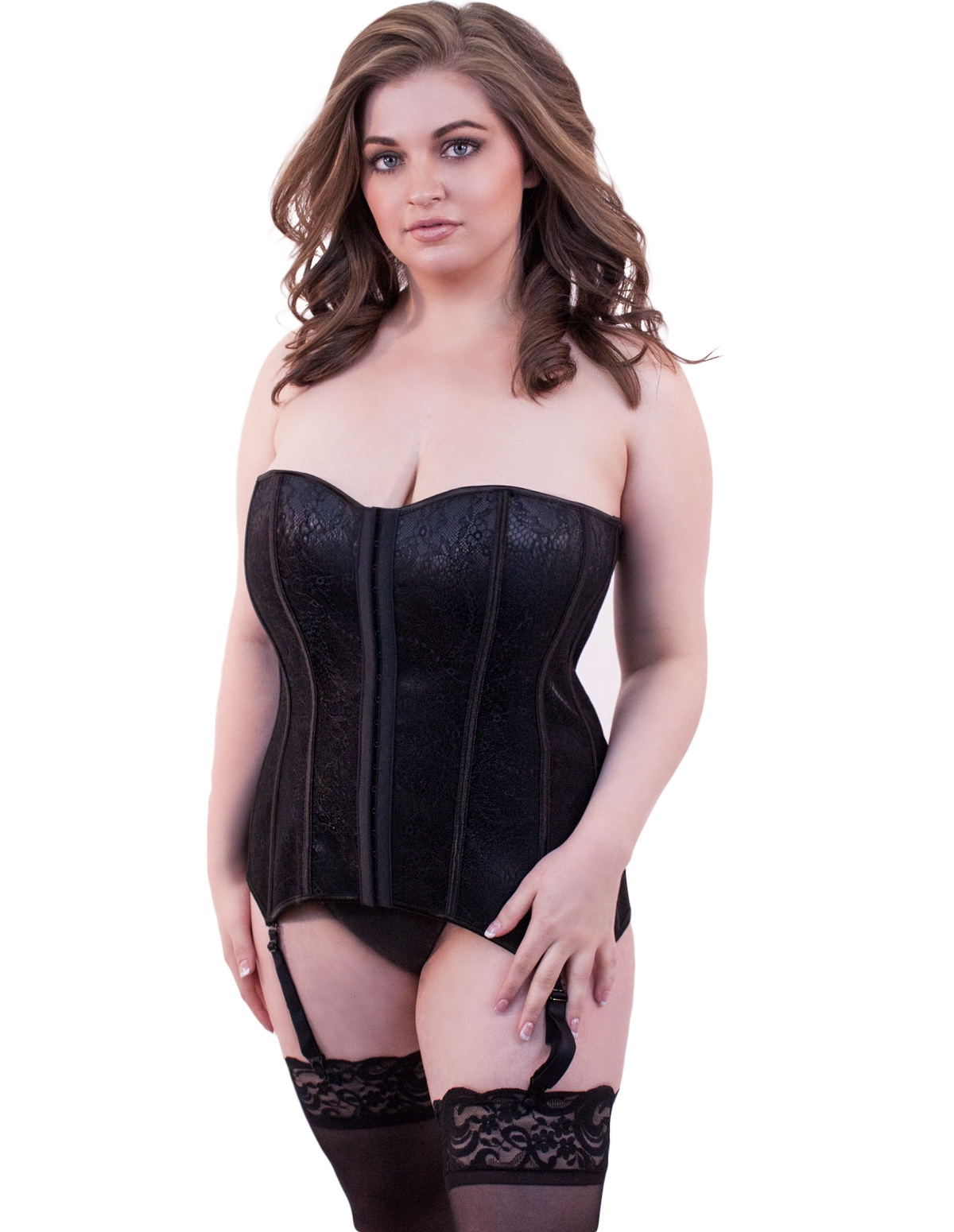 Timeless Lace Overlay Plus Size Corset