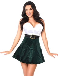 STEEL BONED HOLIDAY DRESS GREEN