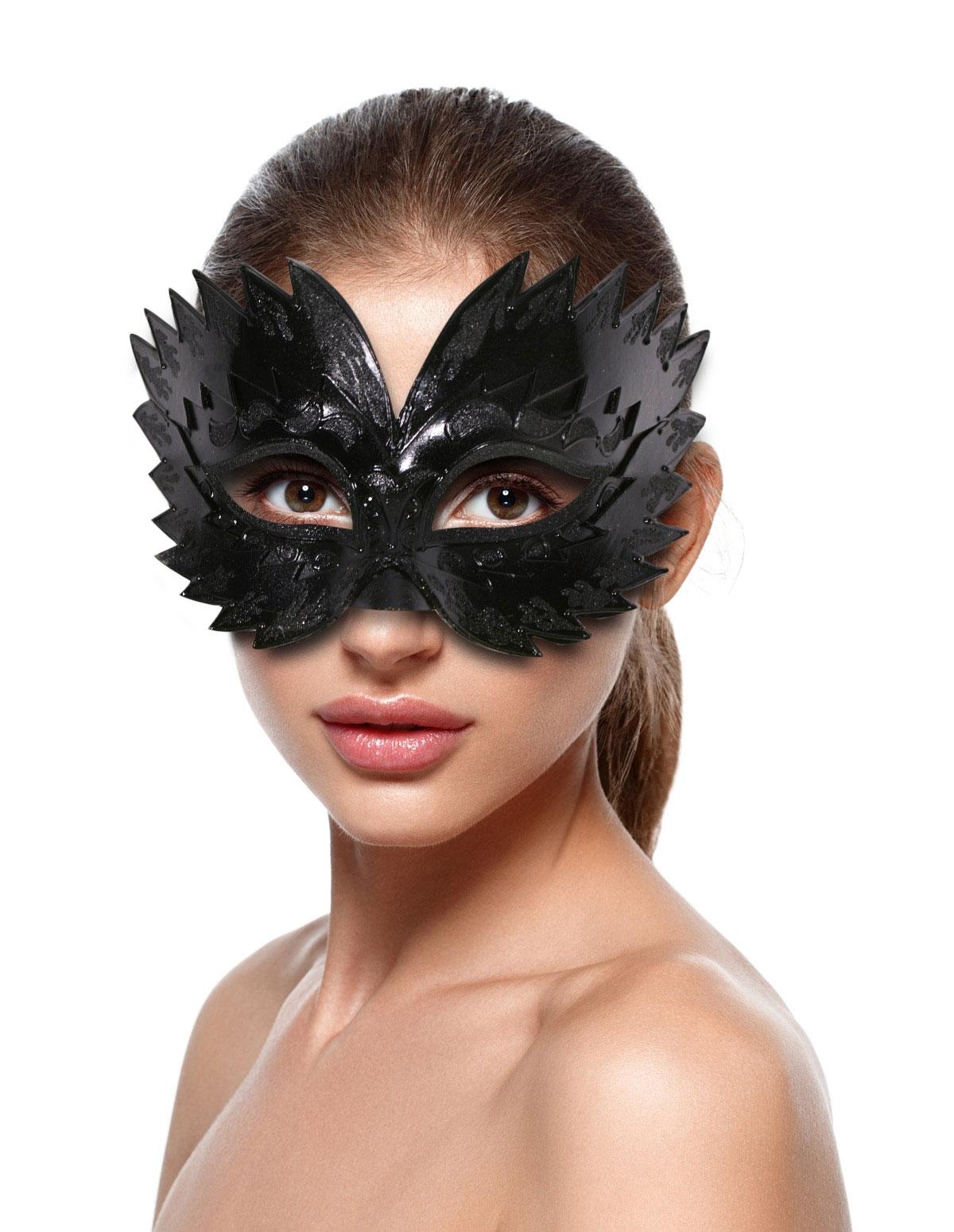 Shiny Black Raven Mask