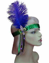 Alternate front view of MARDI GRAS HEADPIECE