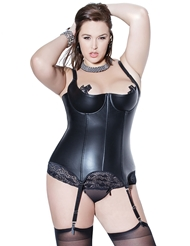 Alternate front view of BONDAGE BETTIE BONED PLUS SIZE BUSTIER