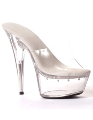 HARMONY STONE TRIM CLEAR TOP STILETTOS