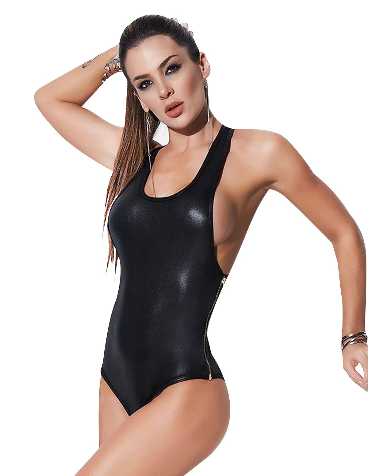 Mapale Racerback Side Zip Bodysuit