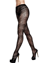 Alternate front view of LACE PLUS SIZE PANTYHOSE