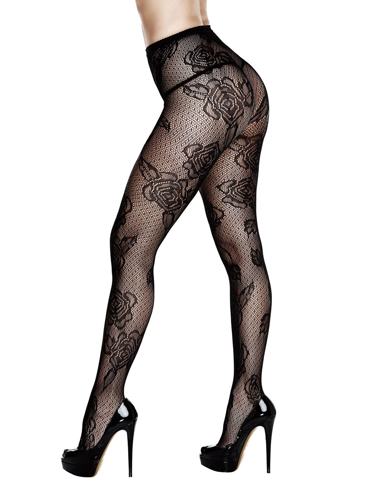 French Rose Plus Size Pantyhose