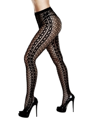 Alternate front view of CROCHET JACQUARD PANTYHOSE