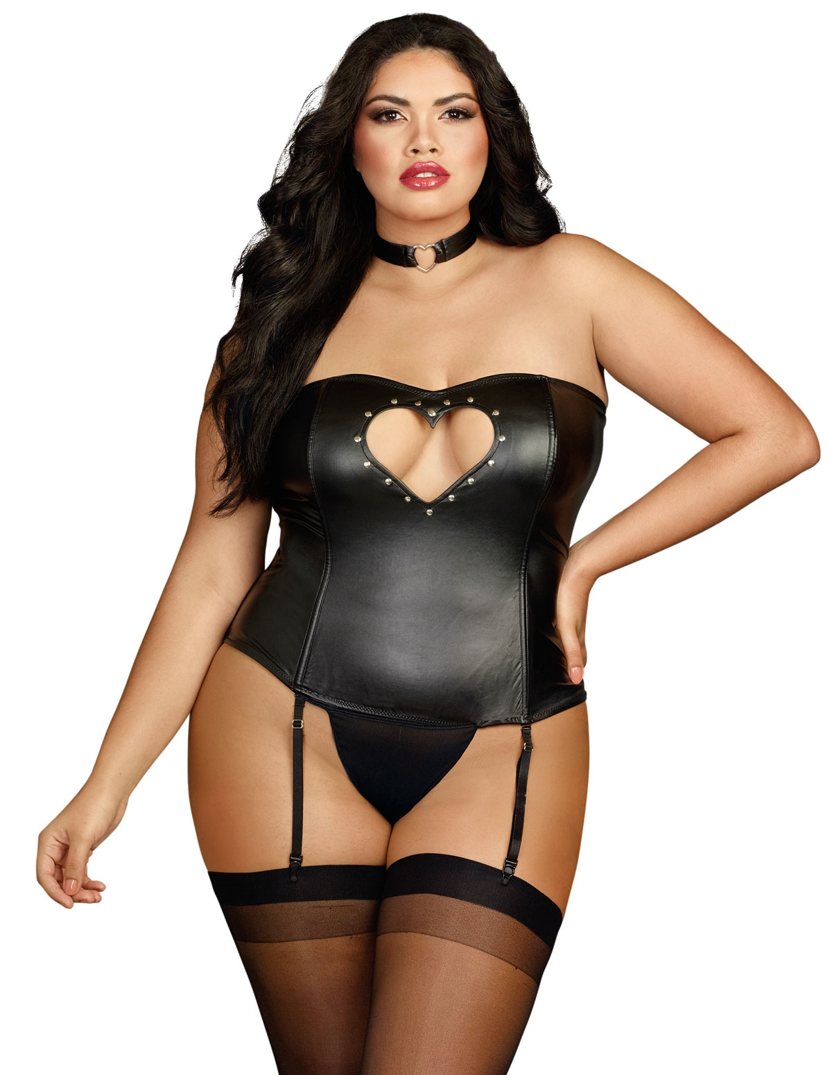 Heart Pumping Racerback Corset - Plus
