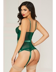 Alternate back view of GORGEOUSLY GREEN BUSTIER