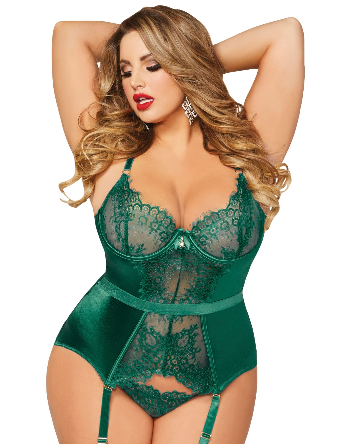 Gorgeously Green Plus Size Bustier
