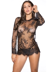 BARE IT ALL LONG SLEEVE CHEMISE