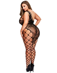 OFF THE SHOULDER PLUS SIZE BODYSTOCKING