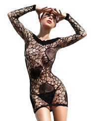 KILLER LEGS FISHNET HEART DRESS