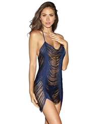 DELICATE FRINGE CHEMISE WITH T-BACK