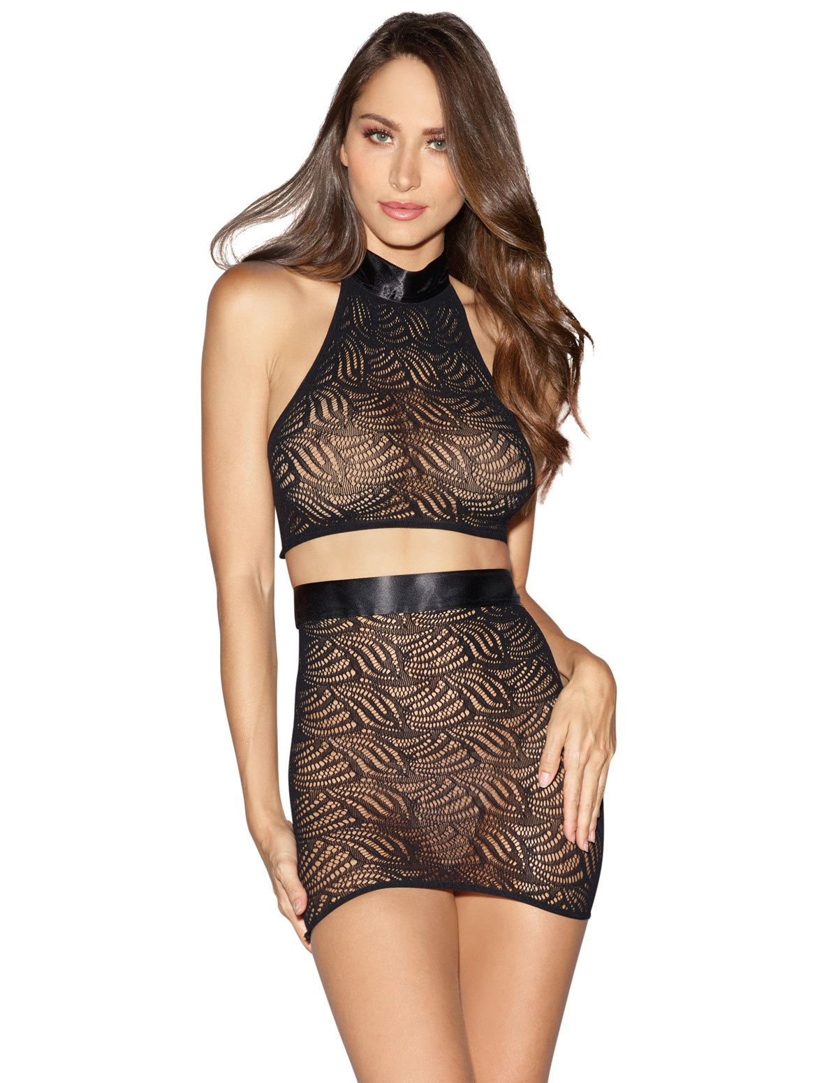 Seamless Mosaic Skirt Set