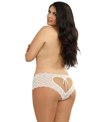 CROTCHLESS OPEN BACK HEART PANTY - PLUS