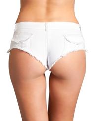 SEXY CUT OFF DENIM SHORTS - WHITE