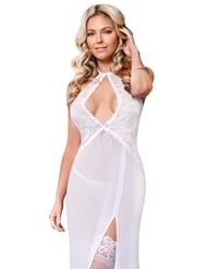 PURE BLISS KEYHOLE CUTOUT GOWN - ALL SIZES