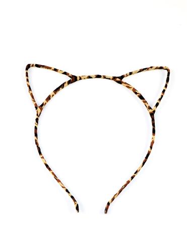 TOF CAT EARS ANIMAL PRINT HEADBAND