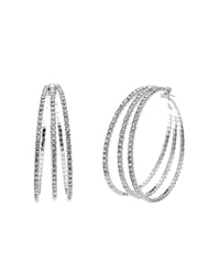 3 LINE MEMORY WIRE HOOPS