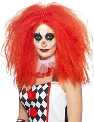 Alternate front view of CRIMPED CLOWN WIG