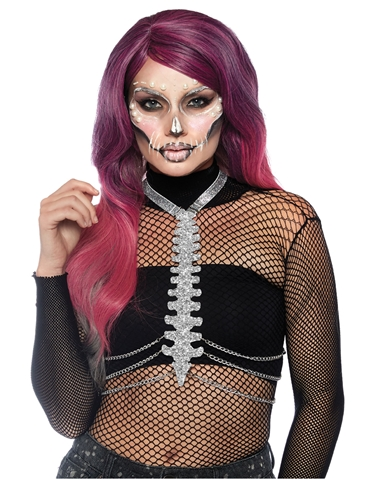 DIE CUT GLITTER BONE BODY HARNESS