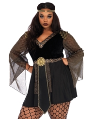 Alternate front view of GLAMAZON WARRIOR PLUS SIZE COSTUME