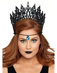 Alternate front view of GLITTER DIE CUT CROWN WITH JEWEL