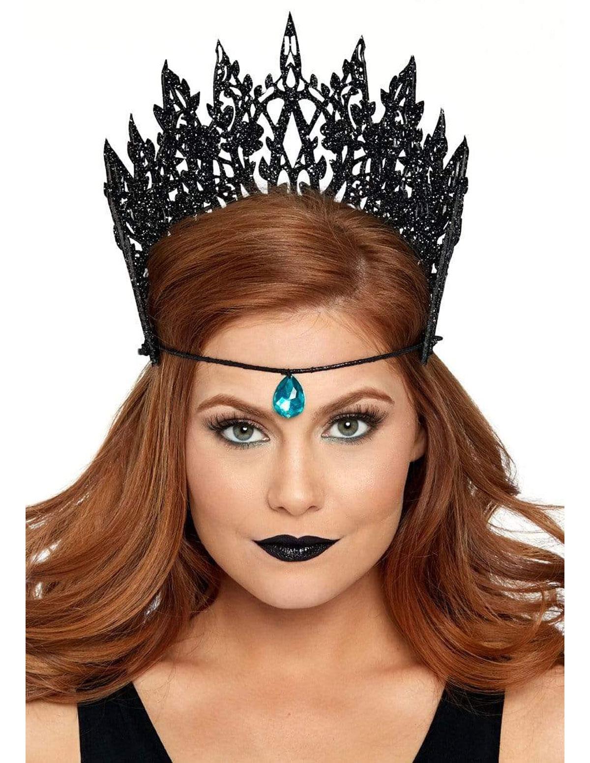 Glitter Die Cut Crown With Jewel
