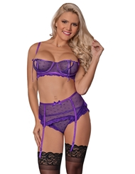 UNWRAP ME BRA AND GARTER SET - ALL SIZES