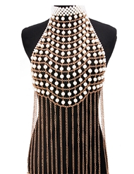 PEARL CHAIN HALTER