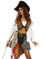 Alternate back view of SWASHBUCKLING SIREN COSTUME