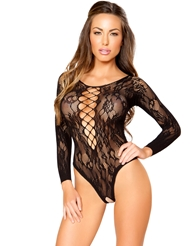 OPEN CROTCH LACE TEDDY