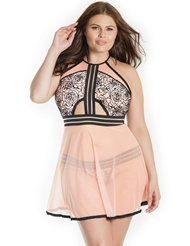 ROSE SHADOWS BABYDOLL - PLUS