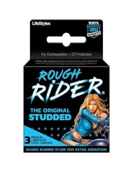 ROUGH RIDER STUDDED CONDOMS 3PK