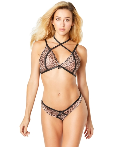 LUSTY LEOPARD BRA SET