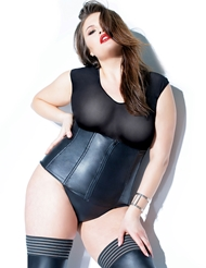 MATTE WET LOOK PLUS SIZE WAIST CINCHER