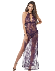 PLUM LACE GOWN