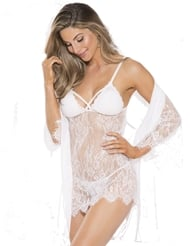 LOVE ME IN LACE ROBE SET - ALL SIZES