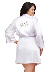 PLUS SIZE BRIDE ROBE