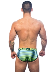 ANDREW CHRISTIAN ELECTRIC STRIPE BRIEF