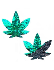NIPZTIX SEQUIN WEED LEAF PASTIES