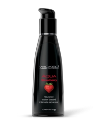 AQUA STRAWBERRY LUBRICANT 4-OZ