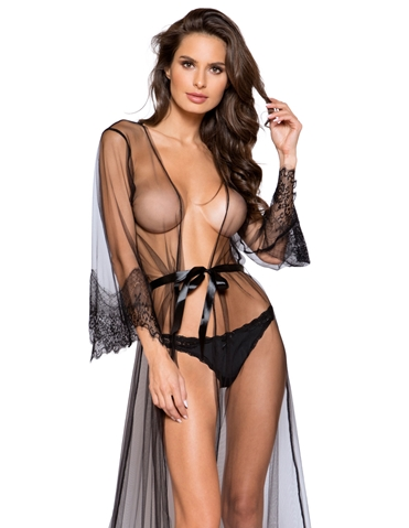 BARELY THERE LONG SHEER ROBE