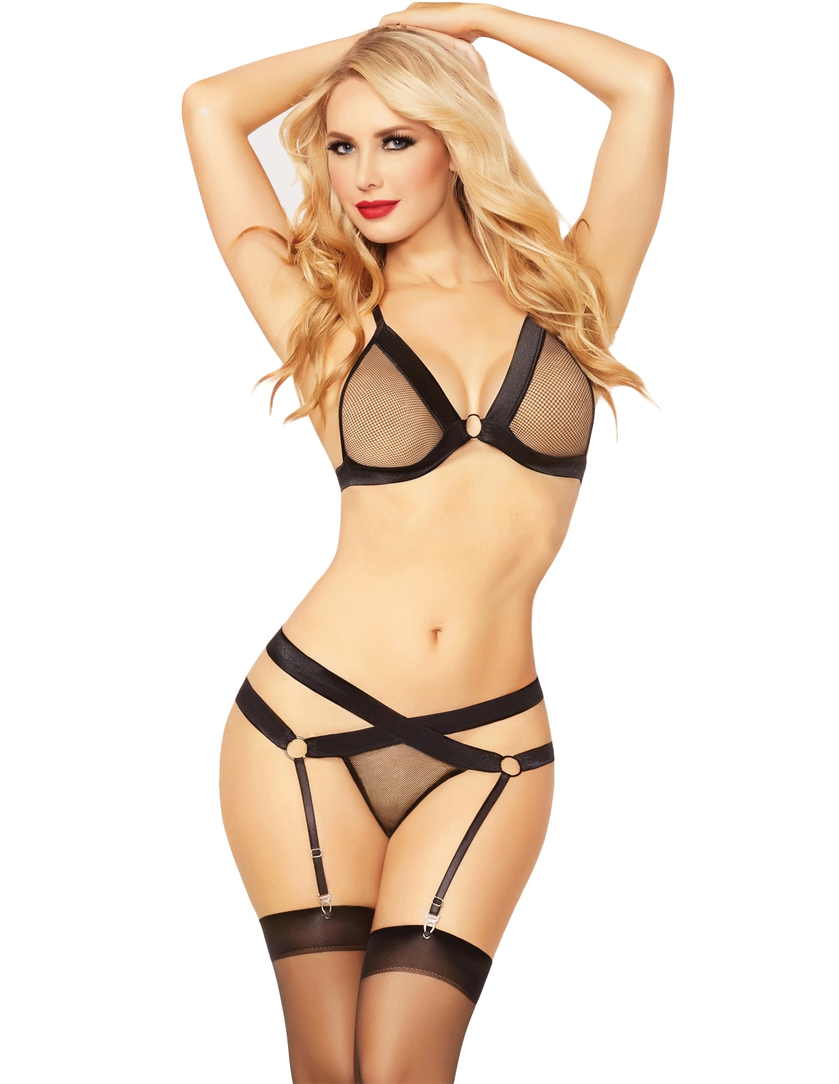 Fishnet Fever Bra Set