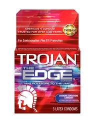 TROJAN THE EDGE CONDOMS 3 PACK
