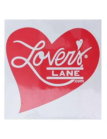 LOVERS LANE BUMPER STICKER