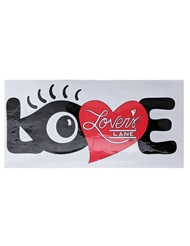 LOVE WITH EYE BUMPER STICKER