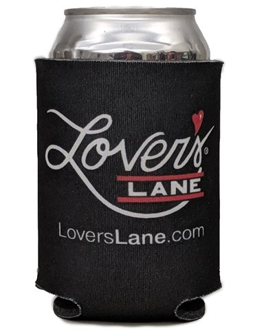 LOVER'S LANE BLACK CAN KOOZIE